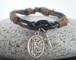 battle saints bracelets michael etsy
