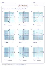 slope worksheets - Finding Slope From A Graph Worksheet