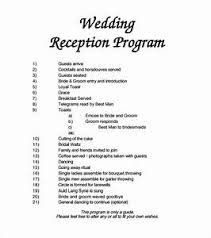 reception program template wedding reception schedule sle wedding program template 11