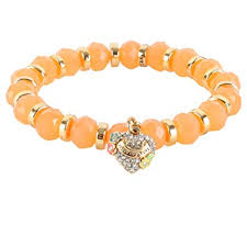 beaded heart bracelet images Juicy couture stretch beaded friendship pave heart jpg