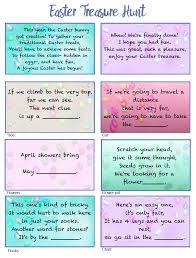 easter scavenger hunt free printable easter treasure hunt 24 mix match clue plus blanks