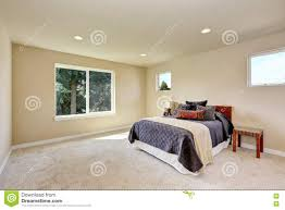 Craftsman Carpet Photo Of A Small Craftsman Master Bedroom With Beige Walls Stock