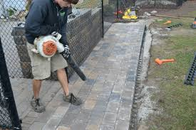 Installing Patio Pavers On Sand Installing Patio Pavers Build A Paver On Slope Laying Sand
