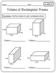 volume and surface area of rectangular prisms two worksheets 1