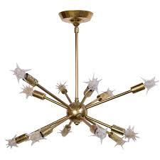 Chandelier Bulb Brass 1960 S Sputnik Chandelier With Original Starlight Bulbs For