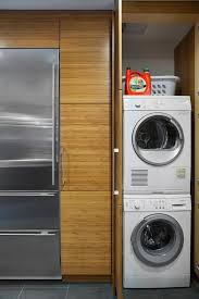 washer dryer in kitchen ideas laundry room modern with stackable