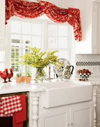 Red Kitchen Curtain by Interesting Yellow And Red Kitchen Curtains 63 For Curtain Rods