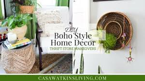 boho style home decor diy boho style home decor thrift store makeovers youtube