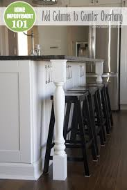 kitchen island columns home improvement adding column supports to counter overhang plus