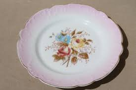 vintage china with pink roses vintage painted china plates w pink flowers ornate gold