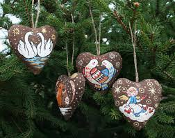 pigeon and dove set of 2 turtle doves ornaments couples
