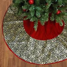 50 diva safari red velveteen leopard animal print christmas tree