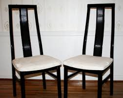 black lacquer dining room chairs black lacquer chairs etsy