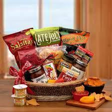 Delivery Gift Baskets A Little Spice Gourmet Salsa U0026 Chips Gift Basket