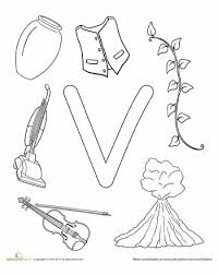 v is for worksheets alphabet and the alphabet