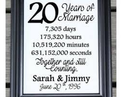 20th wedding anniversary ideas 20th anniversary etsy