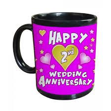 2nd wedding anniversary 2nd wedding anniversary gift printed coffee mug