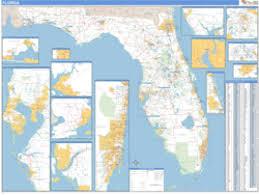 zip code map florida zip code wall map maps com