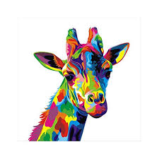 uniquebella abstract giraffe painting printed on canvas art