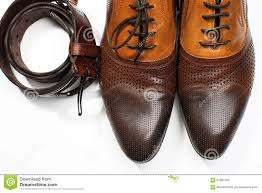 isolated leather men u0027s dress shoes and belt stock photo image