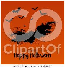 clipart of a jackolantern pumpkin over happy halloween text on
