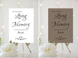 in loving memory wedding a4 a5 wedding sign candle burns in loving memory