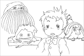 anime coloring pages kids neighbor totoro free printable