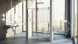 swinging glass shower door