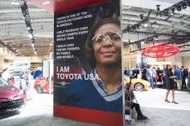 toyota usa news global automakers tout u0027made in usa u0027 at d c auto show news