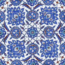 Pattern Ottoman Floral Patterns On Ottoman Tiles Istanbul Turkey Stock Image
