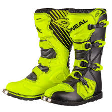 dirt bike trail boots oneal rider mx dirt trail boots neon yellow