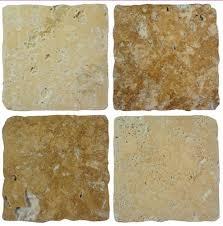 pack of 10 cream brown stone travertine effect mosaic tile