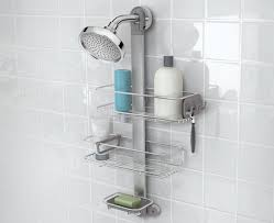 simplehuman adjustable stainless steel shower caddy organizer