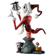 santa skellington figurine nightmare before