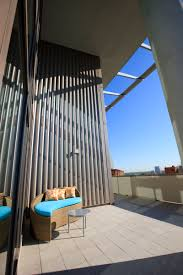 a view of a penthouse terrace at the element at mercantile place