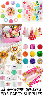 birthday party supplies 11 awesome sources for party supplies pizzazzerie