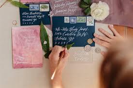 custom invitations wedding invitations elisaanne calligraphy