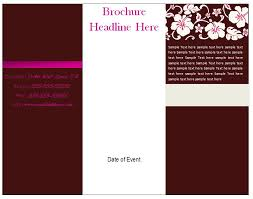 free brochure templates for word 2010 free printable tri fold brochure templates fieldstation co