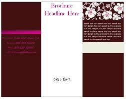 free tri fold business brochure templates free printable brochure templates fieldstation co