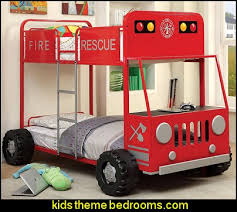 Fire Truck Bunk Bed Decorating Theme Bedrooms Maries Manor Fire Engine Bed