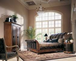American Bedroom Furniture by American Drew Bob Mackie Home Classics Sleigh Leather Bedroom