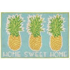 Pineapple Area Rug Home Sweet Home Pineapple Indoor Outdoor Rug