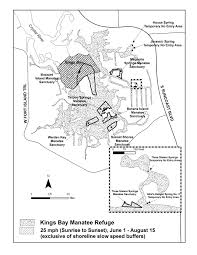Citrus County Florida Map by Map Of The Kings Bay Manatee Refuge Located In Crystal River