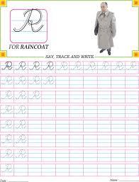 cursive capital letter r practice worksheet download free