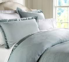How To Make Duvet Covers Linen With Silk Trim Duvet Cover U0026 Sham Pottery Barn