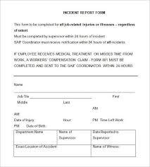security incident report form sample tm sheet