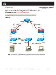ccnasv1 1 chp09 lab a sec pol instructor 8 25 37 am secure shell