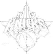 new york knicks coloring pages behind the knicks logo with michael doret on behance