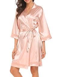 robe de chambre en satin pour femme hotouch femme pyjama de chambre robe courte de nuit kimono