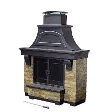 propane patio heater lowes shop sunjoy black steel outdoor wood burning fireplace at lowes